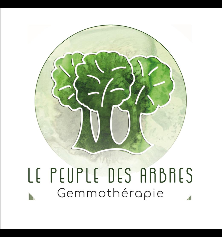 Logo le peuple des arbres sur fond blanc