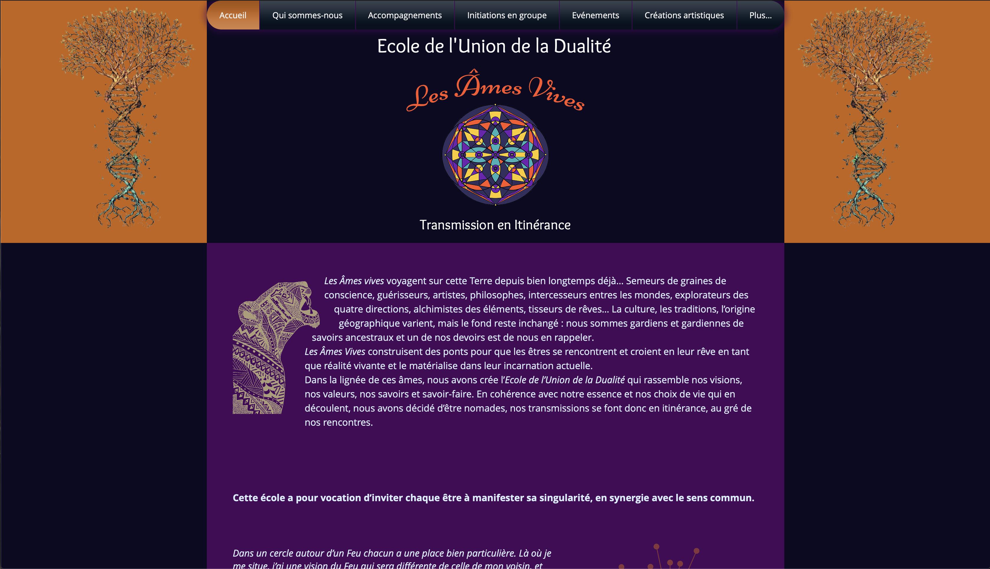 Image du site les âmes vives